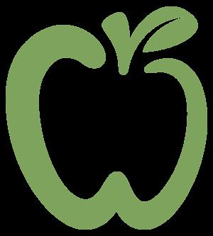 Light green apple overlay logo