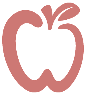 Red apple overlay logo
